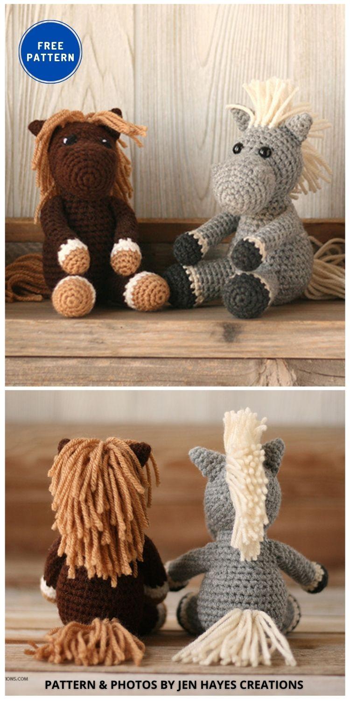 Horse - 9 Free Amigurumi Horses Crochet Toy Patterns