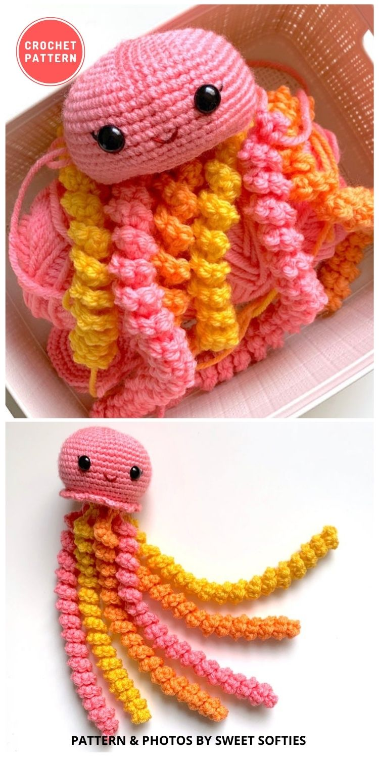 Juniper the Jellyfish Amigurumi Doll - 11 Amigurumi Octopus Toys Crochet Patterns For Babies PIN