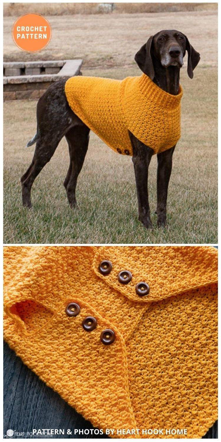 Large Dog Sweater - 12 Awesome Crochet Dog Sweaters For All Sizes