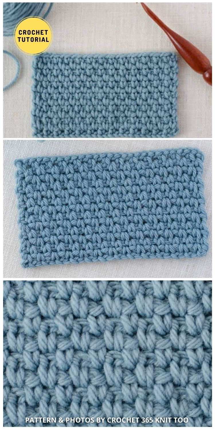 Linen Stitch - 12 Easy Crochet Stitches Without Holes