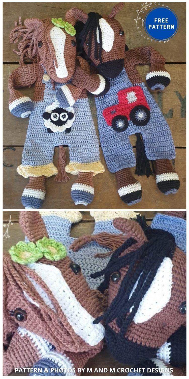 Melly Teddy Ragdoll Bonnie & Clyde Horse - 9 Free Amigurumi Horses Crochet Toy Patterns