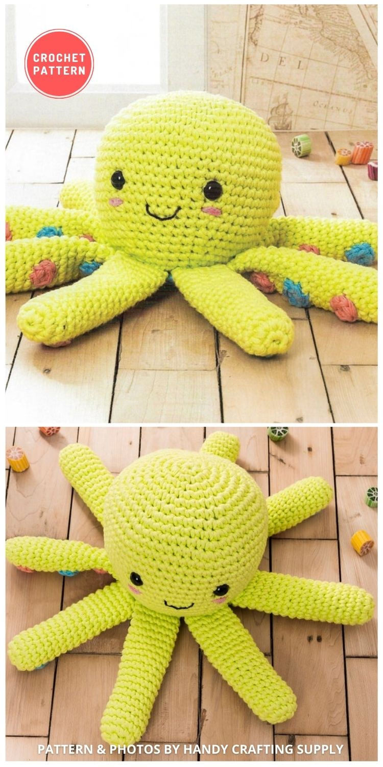 Octopus Amigurumi - 11 Amigurumi Octopus Toys Crochet Patterns For Babies PIN