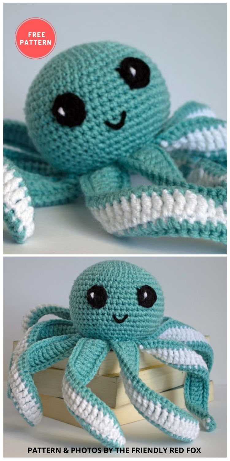 Octopus Baby Toy Pattern - 11 Amigurumi Octopus Toys Crochet Patterns For Babies PIN