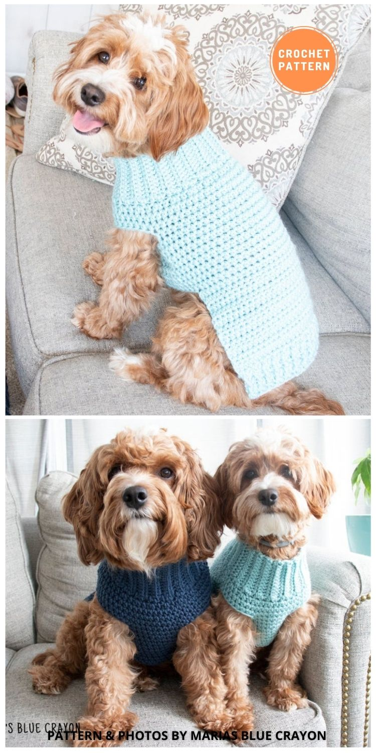 Pullover Dog Sweater - 12 Awesome Crochet Dog Sweaters For All Sizes