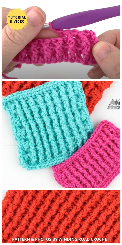 Single Rib Stitch - 12 Easy Crochet Stitches Without Holes