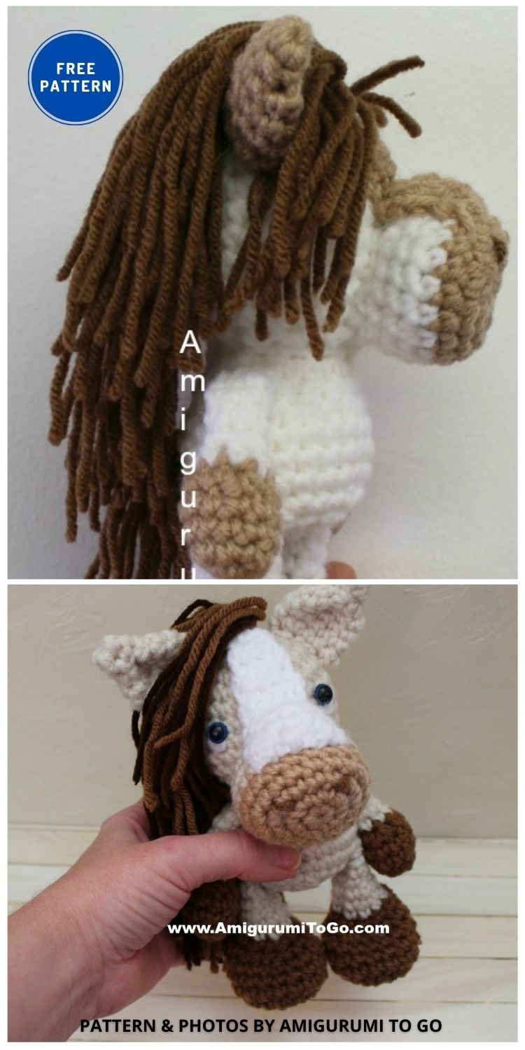 S'mores the Horse - 9 Free Amigurumi Horses Crochet Toy Patterns