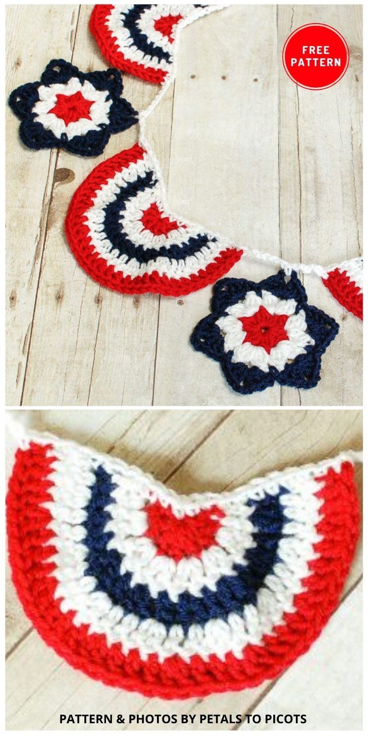 Star Spangled Banner - 12 Easy Crochet 4th of July Party Decorations Patterns