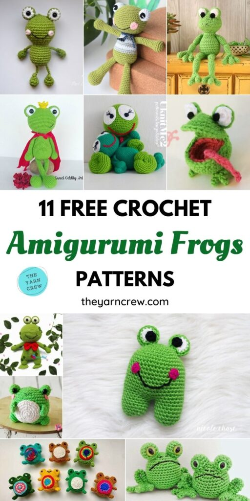 11 Free Crochet Amigurumi Frog Patterns PIN 1
