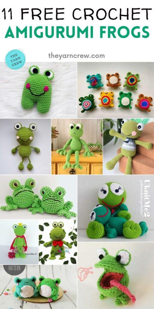 11 Free Crochet Amigurumi Frogs PIN 2