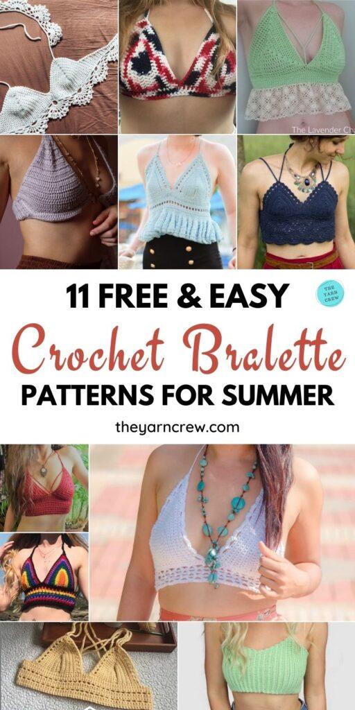 11 Free & Easy Crochet Bralette Patterns For Summer PIN 1