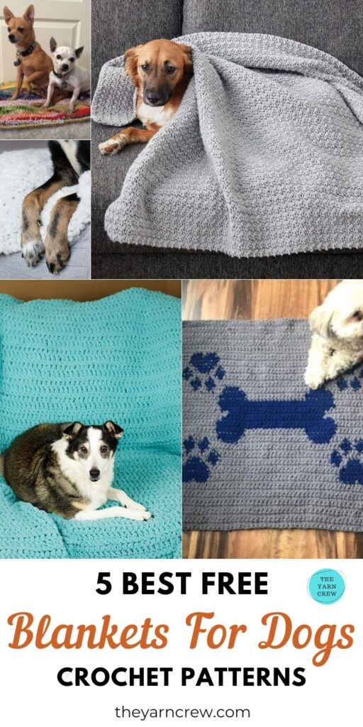 5 Best Free Blankets For Dogs Crochet Patterns PIN 3