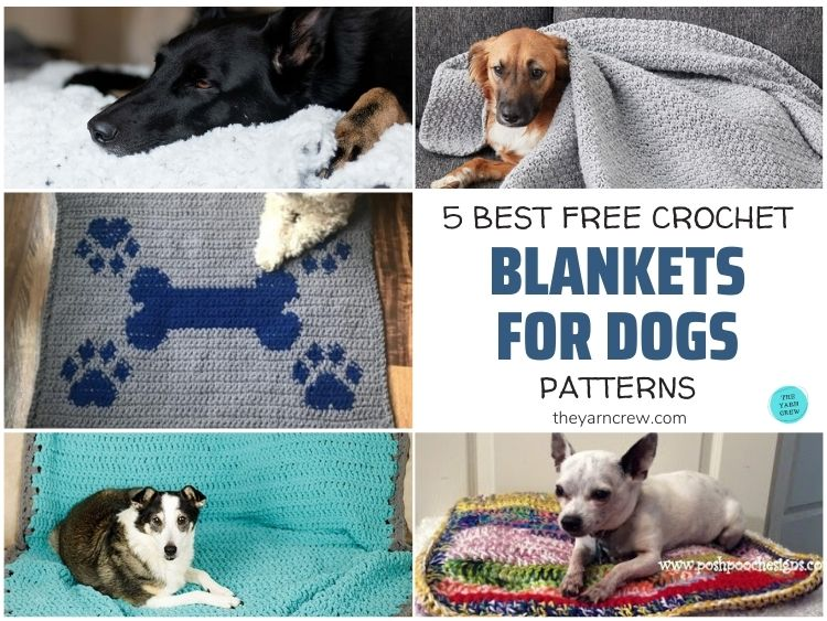 5 Best Free Crochet Blankets For Dogs Patterns FB POSTER