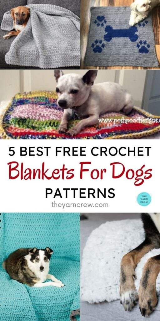 5 Best Free Crochet Blankets For Dogs Patterns PIN 1