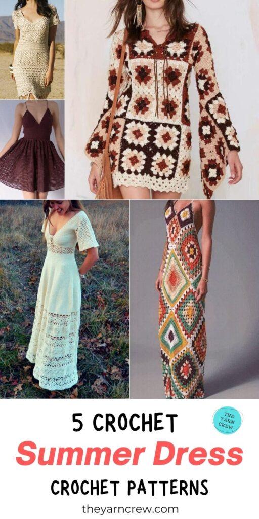 5 Crochet Summer Dresses Pattern PIN 3