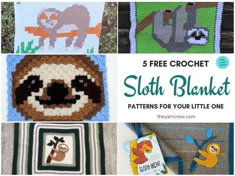 5 Free Crochet Sloth Blanket Patterns For Your Little One FB POSTER