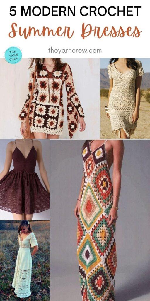 5 Modern Crochet Summer Dresses PIN 2