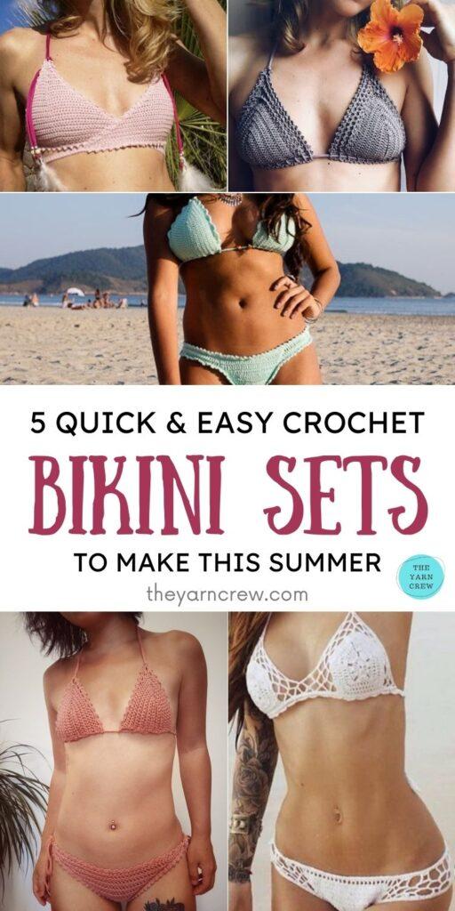 5 Quick & Easy Crochet Bikini Sets To Make This Summer PIN 1