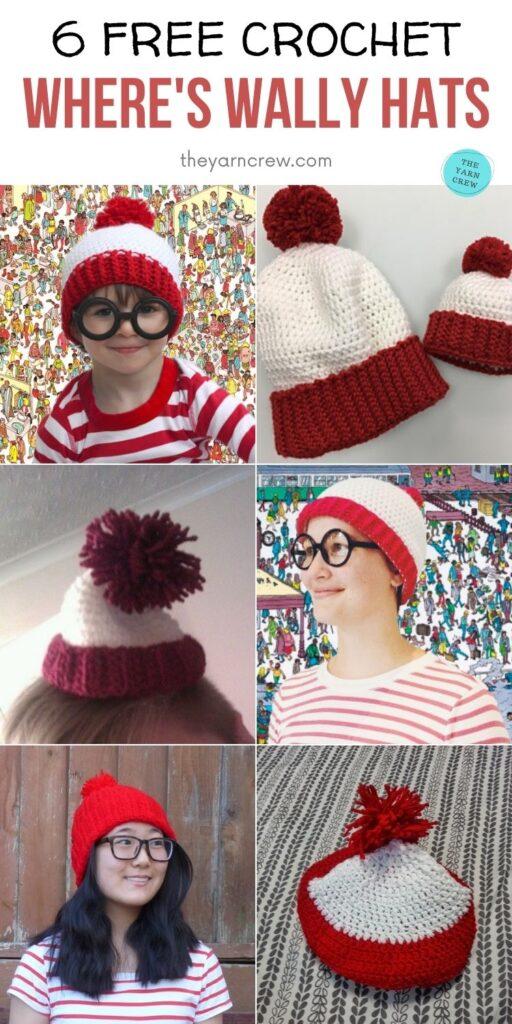 6 Free Crochet Where's Wally Hats PIN 2