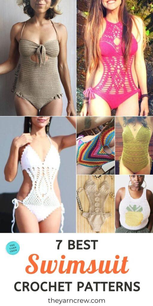 7 Best Swimsuit Crochet Patterns PIN 3