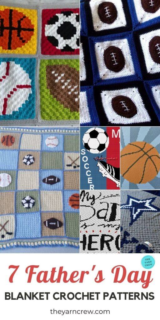 7 Father's Day Blanket Crochet Patterns PIN 3