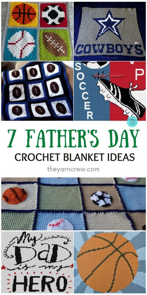 7 Father's Day Crochet Blanket Ideas PIN 1