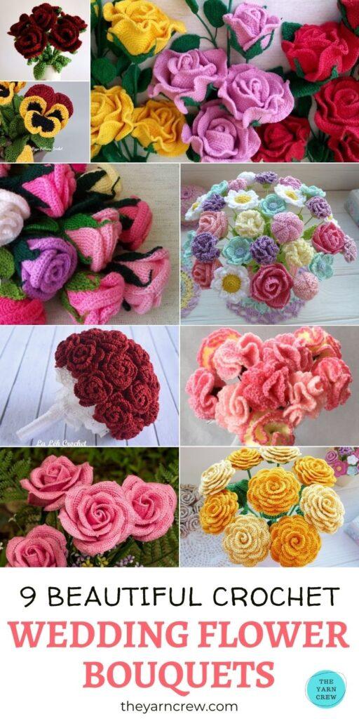 9 Beautiful Crochet Wedding Flower Bouquet PIN 3