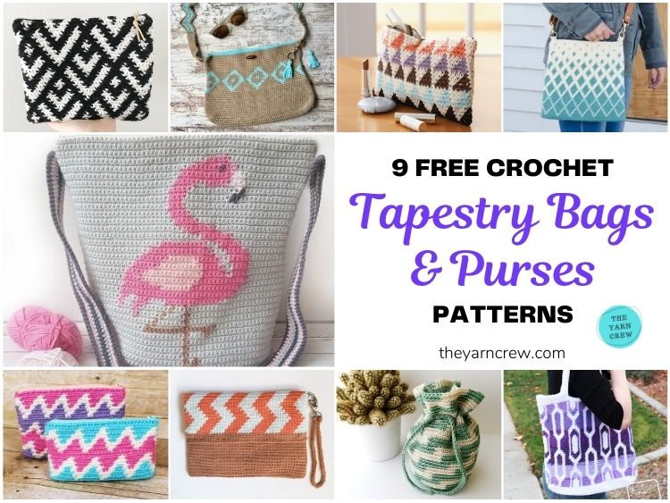 9 Free Crochet Tapestry Bags & Purses Patterns FB POSTER