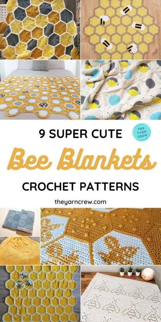 9 Super Cute Bee Blanket Crochet Patterns PIN 1
