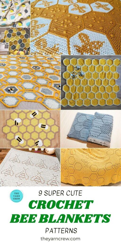 9 Super Cute Crochet Bee Blanket Patterns PIN 3