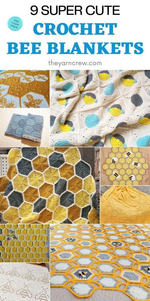 9 Super Cute Crochet Bee Blankets PIN 2