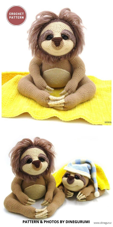 Amigurumi Sloth - 8 Cute Amigurumi Sloths Crochet Patterns For Your Little One (1)