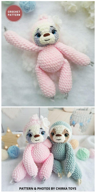 Amigurumi Sloth - 8 Cute Amigurumi Sloths Crochet Patterns For Your Little One
