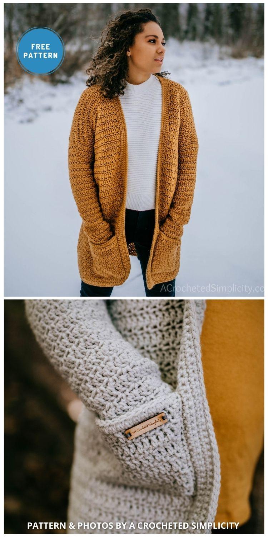 Aurora Cardigan - 10 Free Modern Crochet Cardigans Patterns For Women
