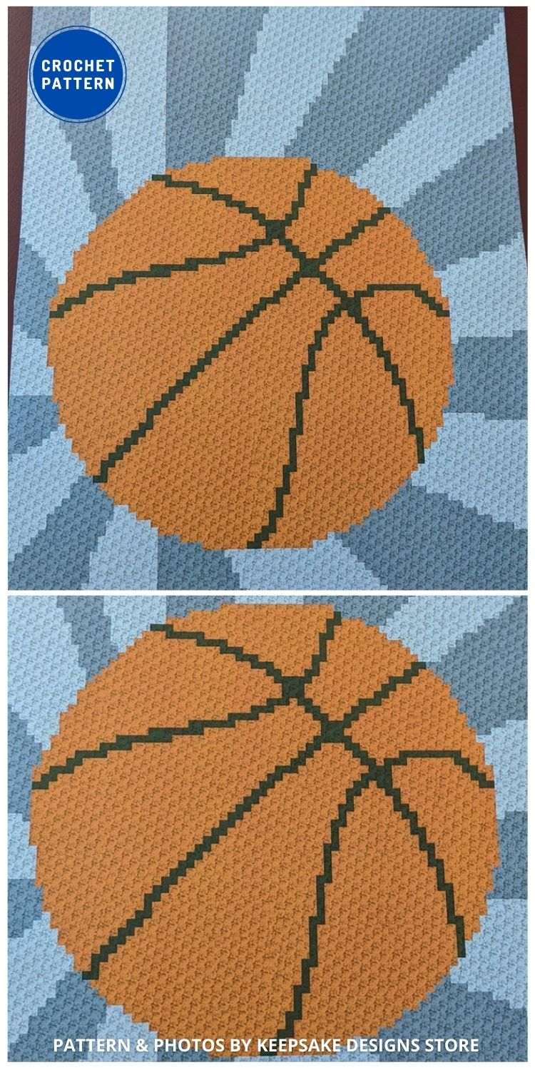 Basketball Graph - 7 Father's Day Crochet Blanket Ideas