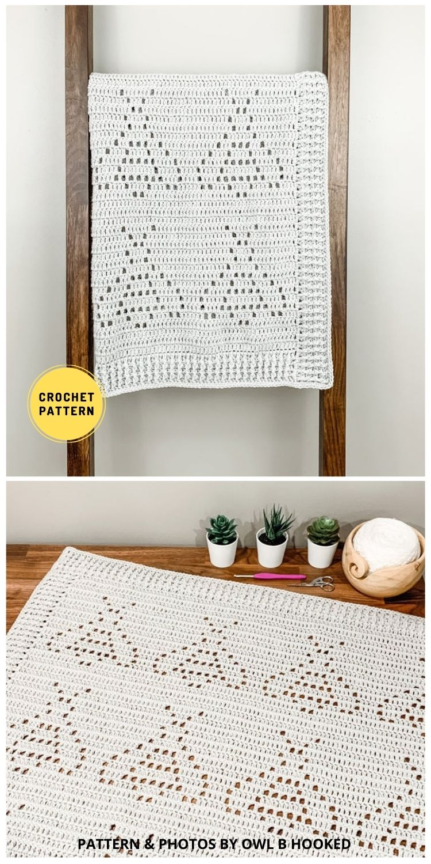 Beckett Blanket - 9 Super Cute Bee Blanket Crochet Patterns