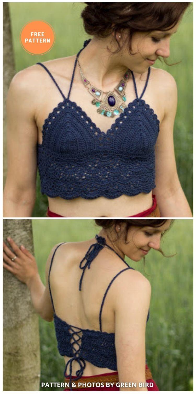 Crochet Boho Bralette - 11 Free & Easy Crochet Bralette Patterns For Summer
