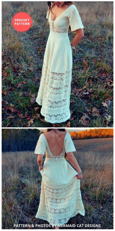 Crochet Maxi Dress - 5 Modern Crochet Summer Dresses To Wear This Summer