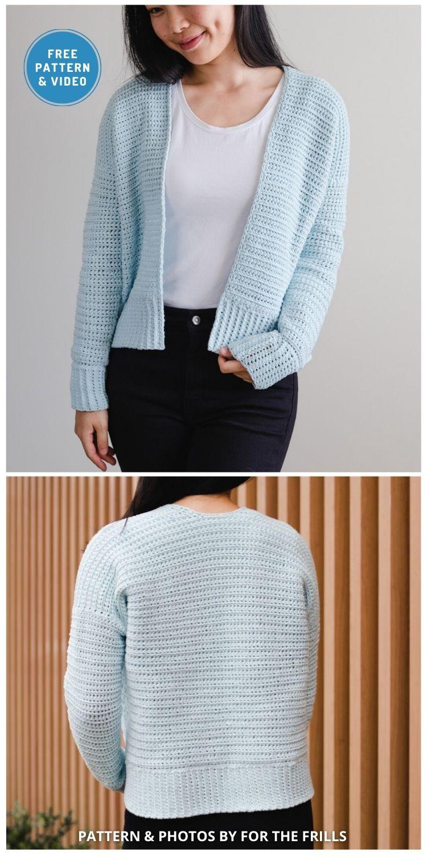 Cuddly Cardigan - 10 Free Modern Crochet Cardigans Patterns For Women