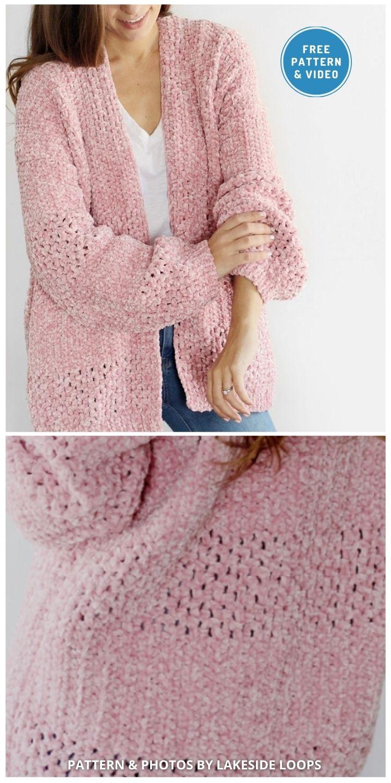 Delaney Velvet Crochet Cardigan - 10 Free Modern Crochet Cardigans Patterns For Women