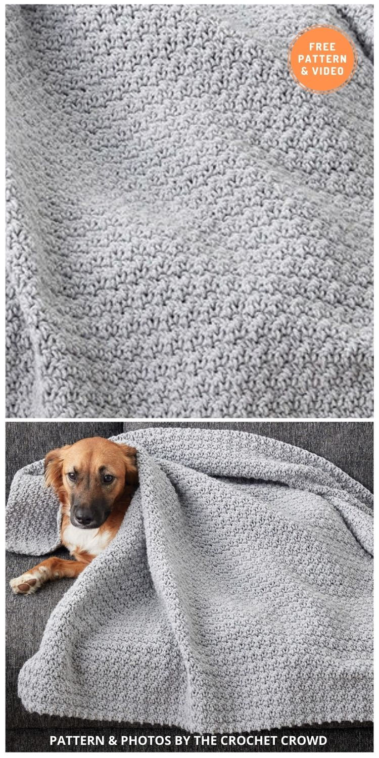 Doggy Comfort Blanket - 5 Best Free Crochet Blankets For Dogs Patterns