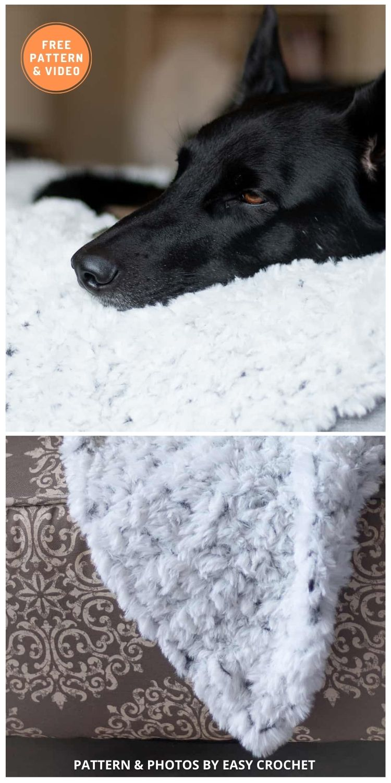Faux Fur Dog Blanket - 5 Best Free Crochet Blankets For Dogs Patterns