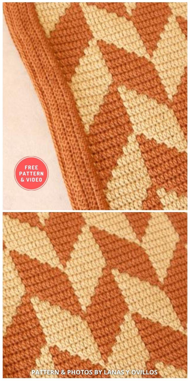 Fox Blanket - 7 Free Unique Mosaic Blanket Crochet Patterns To Make