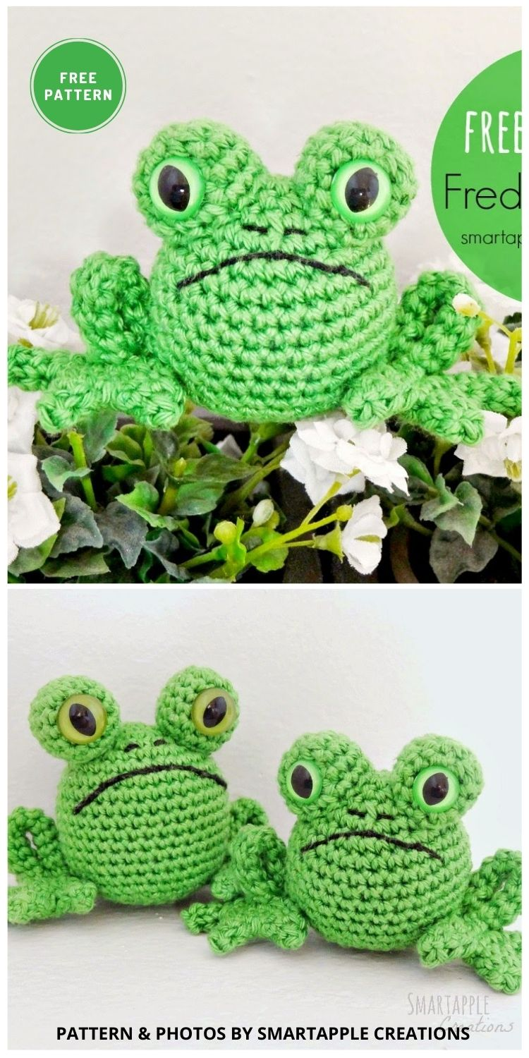 Fred the Frog - 11 Free Crochet Amigurumi Frog Patterns