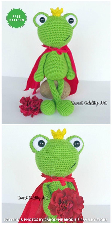Frog Prince - 11 Free Crochet Amigurumi Frog Patterns