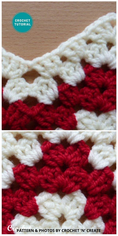 Granny Chevron Stitch - 6 Different Crochet Zigzag Stitch Patterns For Blankets