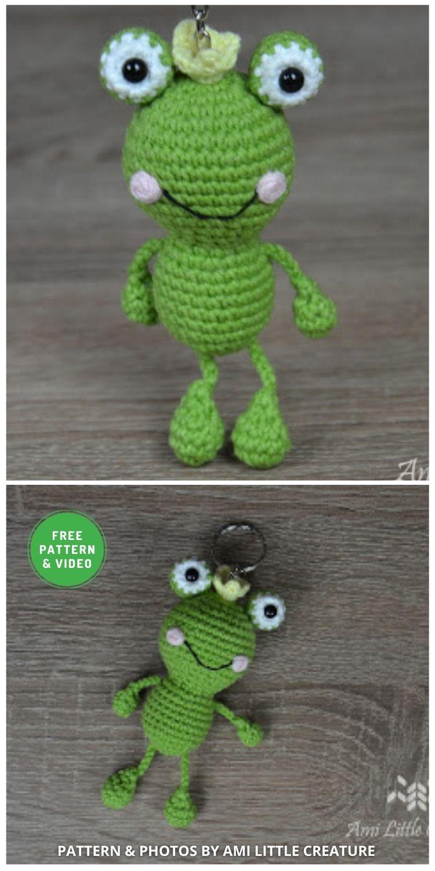 Little Frog Keychain - 11 Free Crochet Amigurumi Frog Patterns