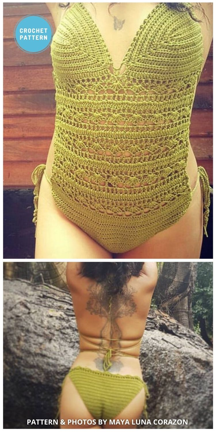 Mermaid Dream One Piece Swimsuit - 7 Best Crochet Swimsuit Patterns To Make This Summer