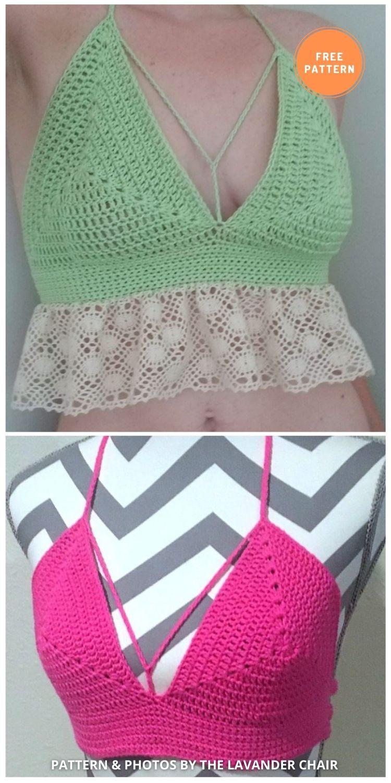 Natalie's Bralette - 11 Free & Easy Crochet Bralette Patterns For Summer