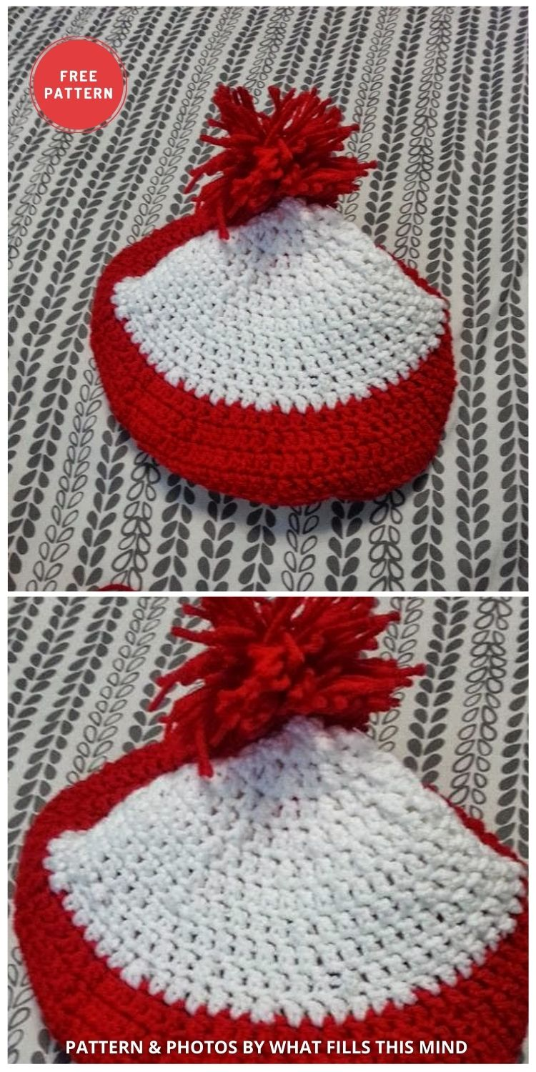 Red White Stripped Where's Waldo Hat - 6 Free & Quick Crochet Where's Wally Hat Patterns