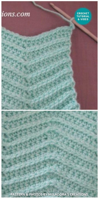 Ripple Zigzag Crochet Stitch - 6 Different Crochet Zigzag Stitch Patterns For Blankets